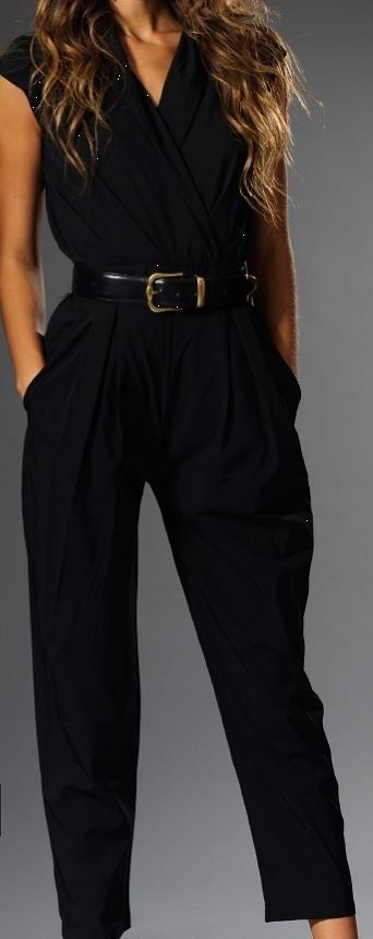 The Jumpsuit | Our black jumpsuit has a cap sleeve and a hint of stretch. Looks great belted. | Clothes Minded - Phoenix, AZ