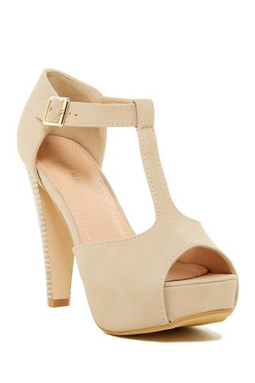 Table Open Toe T-Strap Pump by Top Moda on @nordstrom_rack
