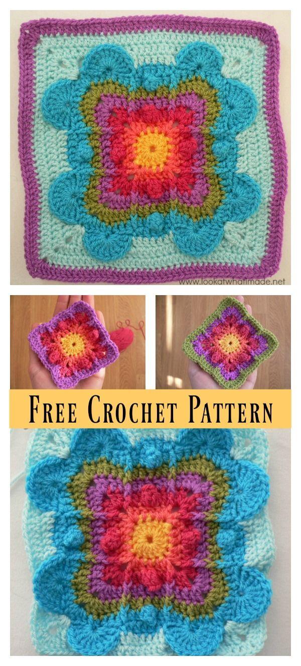 Never Ending Love Square Free Crochet Pattern Granny Square Crochet Pattern Crochet Square Patterns Crochet