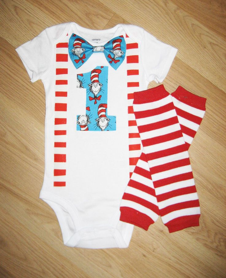 Dr seuss birthday - Dr. Seuss Cat in the Hat Birthday Shirt - Bow Tie Suspenders - Boys First Birthday Outfit - Baby Boy Clothes - Red Blue by kottoncactus on Etsy https://www.etsy.com/listing/173880427/dr-seuss-birthday-dr-seuss-cat-in-the
