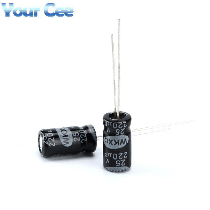 20 pcs Electrolytic Capacitors 25V 220UF 6.3X12MM Aluminum Electrolytic Capacitor