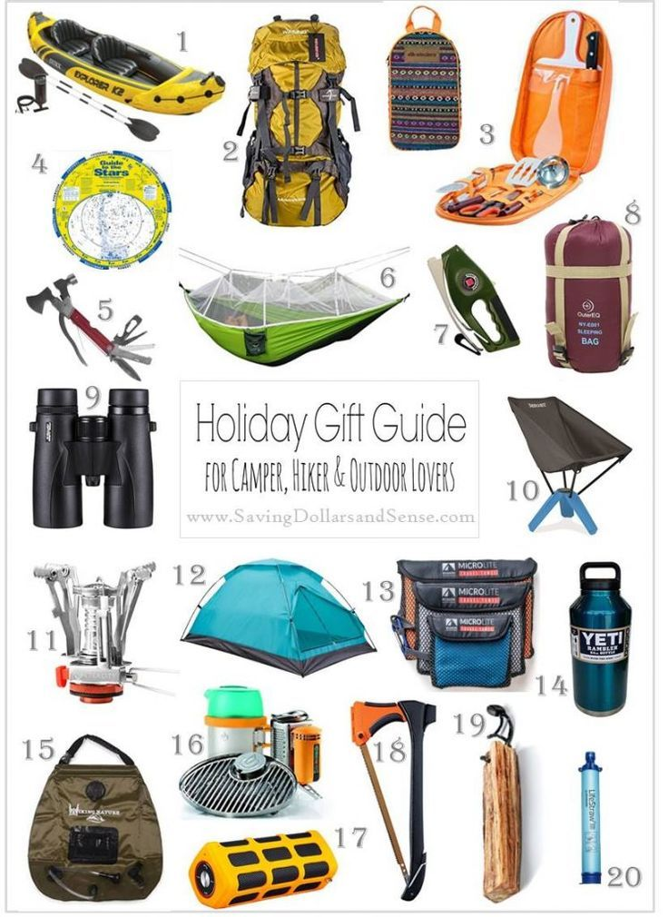 Our latest Gift Guide for Outdoorsman is full of the best gift ideas for hikers, campers and outdoor lovers of all kinds!  You're sure to find a great gift idea.