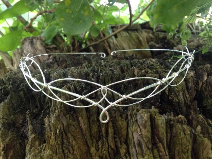 Silver Circlet Tiara Crown Medieval Elven Bridal Headpiece  | eBay