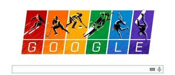 La Carta Olímpica en el Doodle de Google como protesta por la ley anti-gay en Rusia