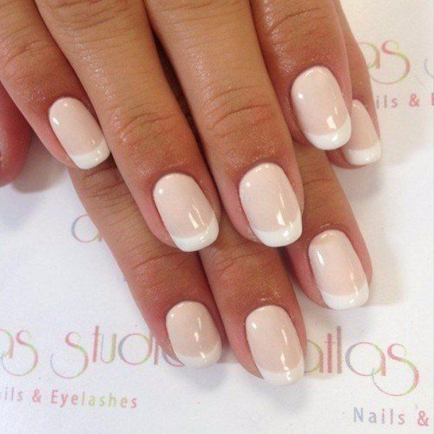 Accurate nails, Everyday nails, French manicure 2016, French manicure shellac, Nails of natural shades, Natural nails, Pale nails 2016, Romantic nails
