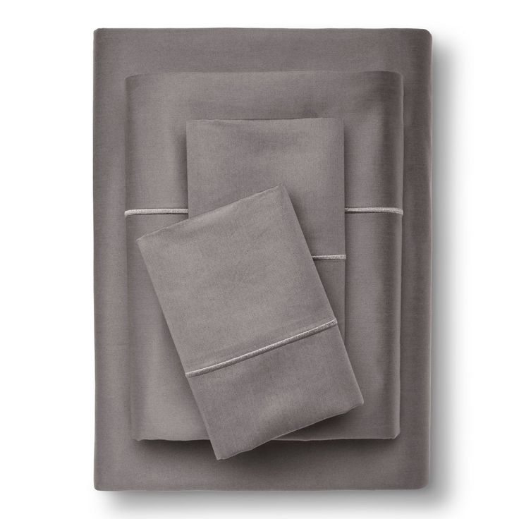 Egyptian Cotton Sheet Set (Full) Gray Marble 1000 Thread Count - Fieldcrest, Earth Gray