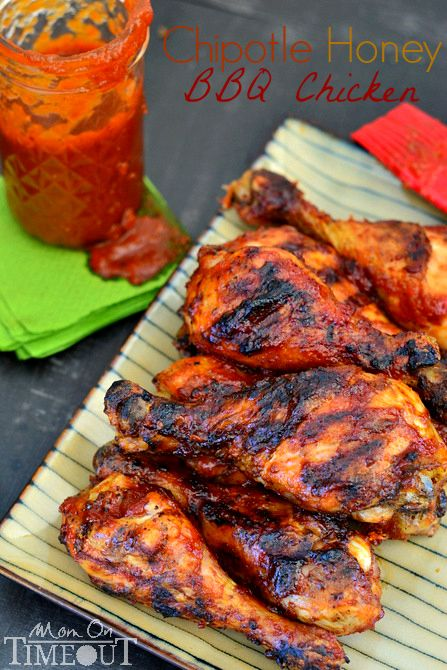 Chipotle Honey BBQ Chicken -  Fabulously sweet and perfectly spicy this chicken is great any night of the week!  |MomOnTimeout.com |  #chicken
