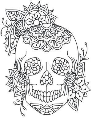 17 Best Ideas About Sugar Skull Stencil On Pinterest