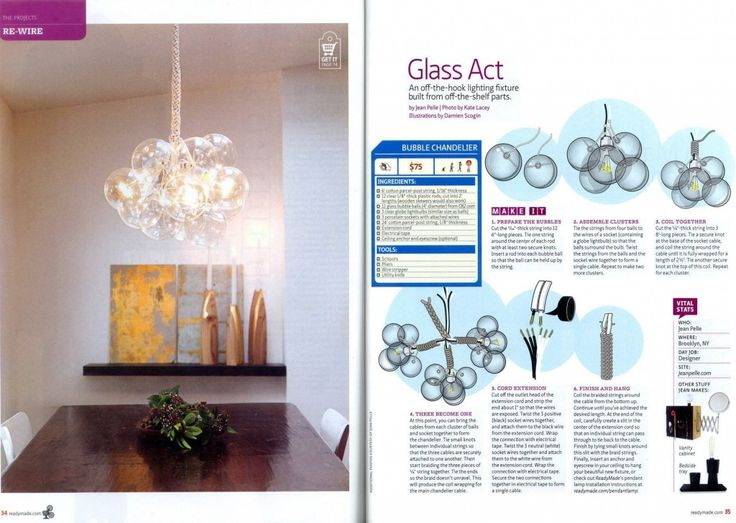 Jean Pelle DIY Bubble Chandelier Assembly Instructions and Parts List