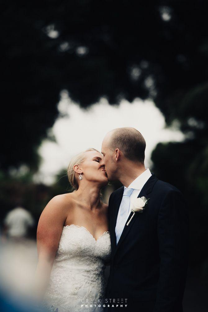 Wedding photography from Taronga Zoo - kiss Lauren & Tim