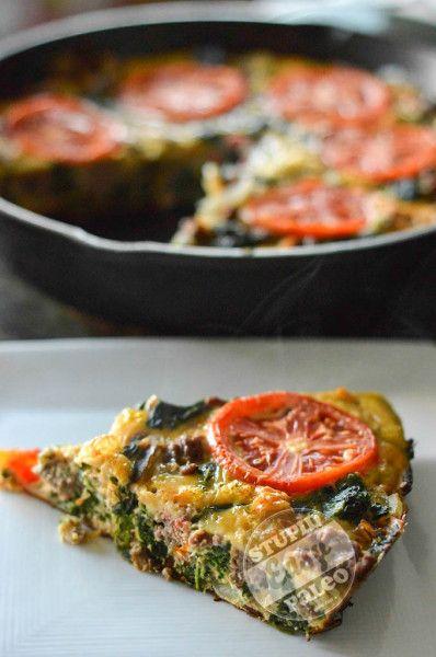 Hearty Spinach Beef Frittata Stupid Easy Paleo - Easy Paleo Recipes to ...