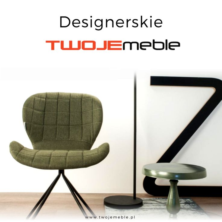 Designerskie Twoje meble – na zdjęciu krzesło OMG w kolorze zielonym, Zuiver #TwojeMeble #DesignerskieMeble #Krzesło #OMG #Zuiver