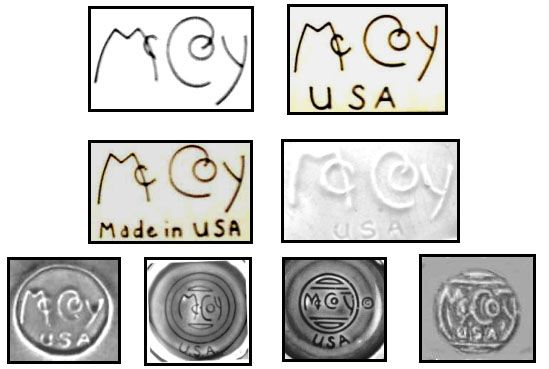 History of McCoy Pottery & various marks used