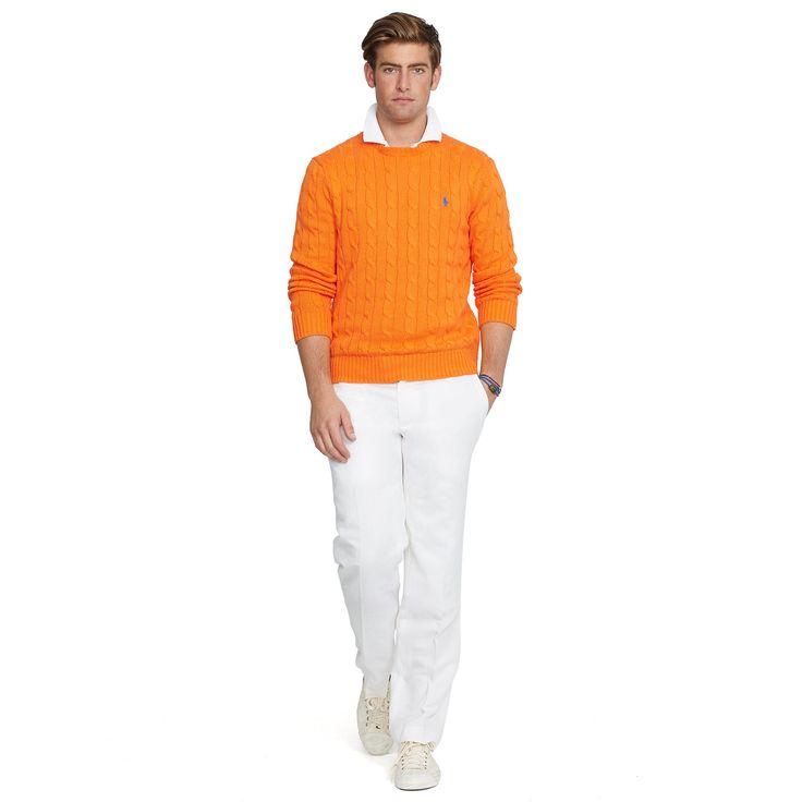 「ralph lauren yellow cable knit men」の画像検索結果