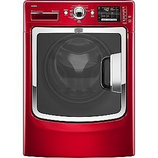 Maytag 4.3 cu. ft. High-Efficiency Front-Load Washer, Red ENERGY STAR®  The washer, matching dryer, 2 matching pedestals, and delivery, about $3,000.00