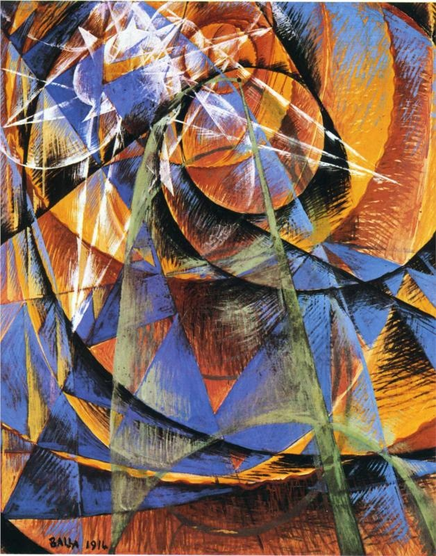 """""""Planet Mercury passing in front of the Sun"""", by Giacomo Balla (1914)"""