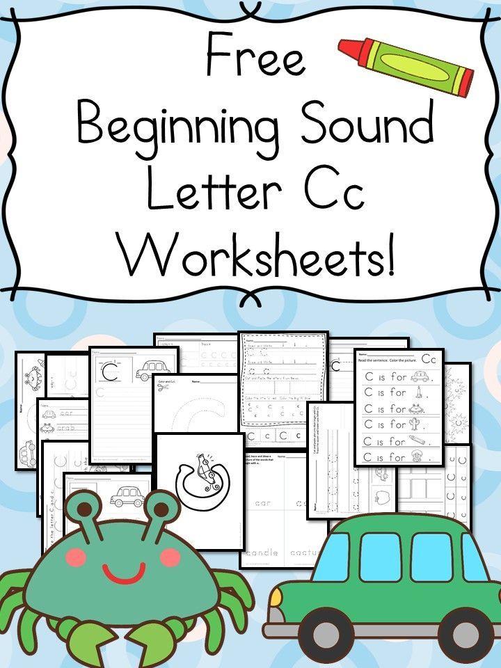 Preschool and Kindergarten Activities - Beginning Sounds Letter C Worksheets - Free and Fun!