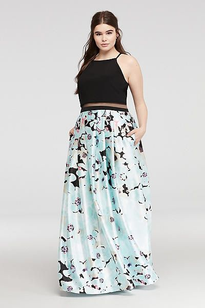 Prom dress style plus size