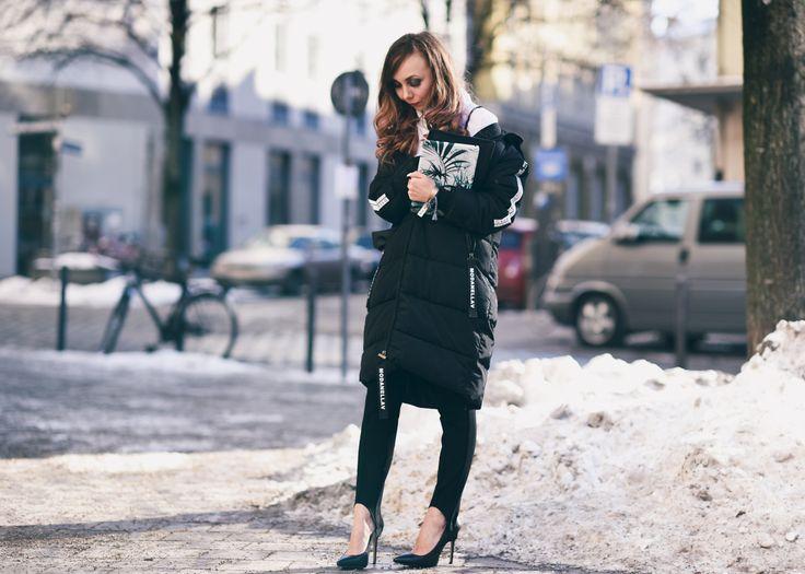 Oversize Daunenjacke mit Steghose #fashion #blogger #streetstyle #ootd
