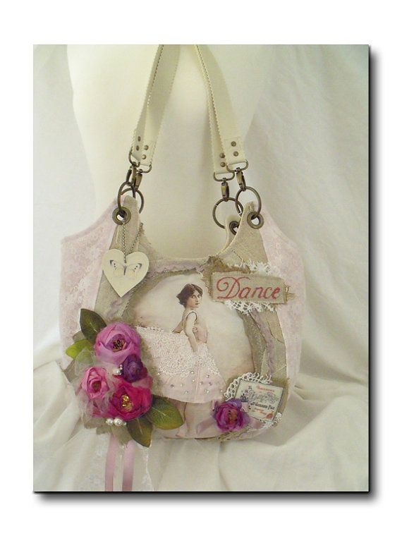 Carry all tote romantic bag boutique handbag ♥ by TatterAndWild, €25.00, gorgeous bag