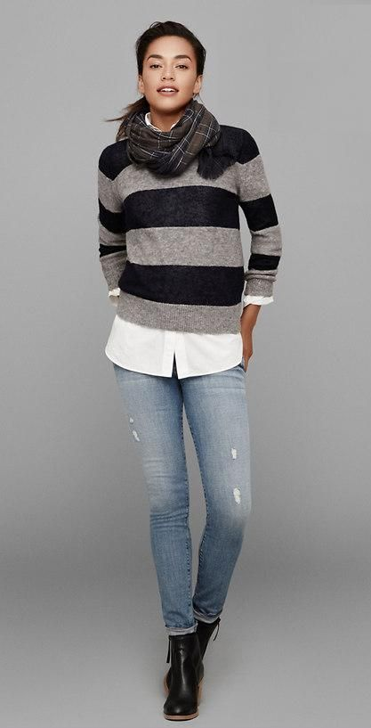 ON MY WISH LIST!! Ann Taylor Loft Fall 2014 LD257 - LOVE THIS SWEATER and SCARF!!