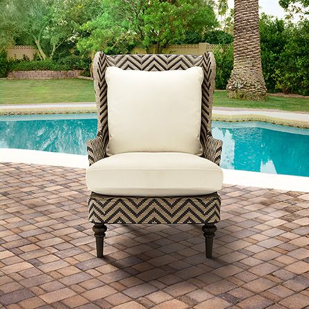 Seabrook Outdoor Wicker Chair With Cushion In Sail Sailor By Arhaus  Furniture