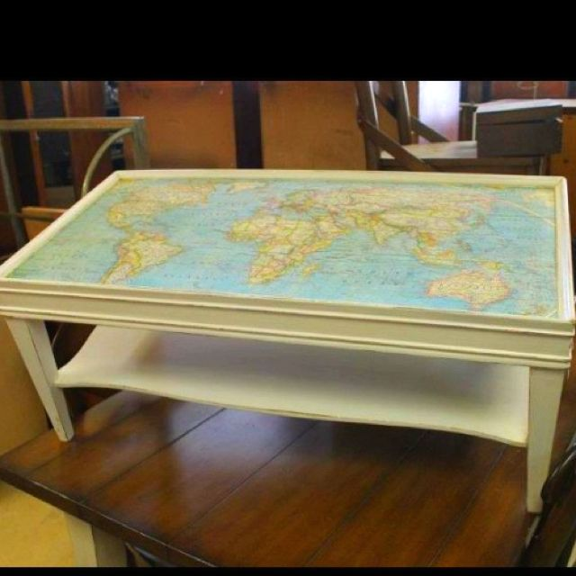 Map Drawer Coffee Table: Map Coffee Table