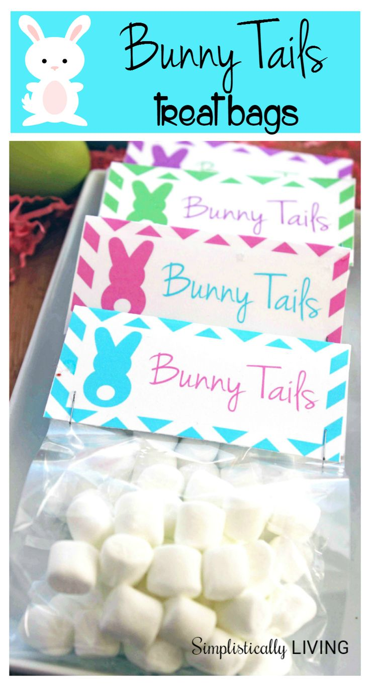 83 best easter images on pinterest easter food easter treats bunny tails treat bags free printable negle Image collections