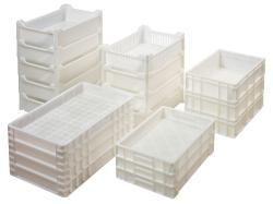 Unsere Lebensmittelbehälter mit verschiedenen Größen für den Transport und die Aufbewahrung von Lebensmitteln.
