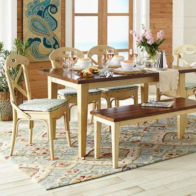 Carmichael Antique Ivory Dining Table Cas Chairs And