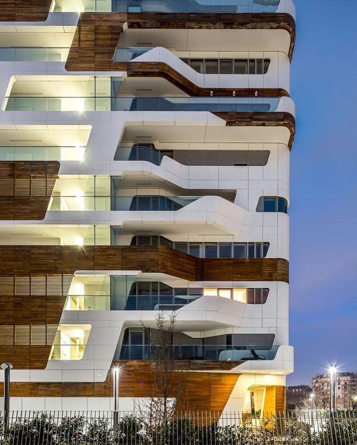Citylife Apartments by Zaha Hadid Architects  #Milan #Italy  Simón Garcia