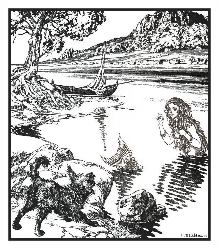 イワン・ビリービン Ivan Bilibin Иван Билибин 人魚姫 The Little Mermaid Русалочка_04