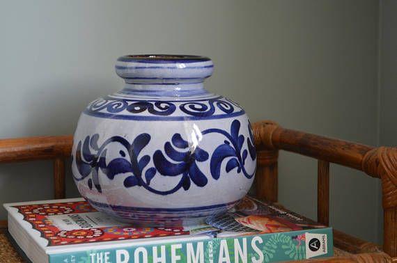 West German vase mid century modern pot planter pottery