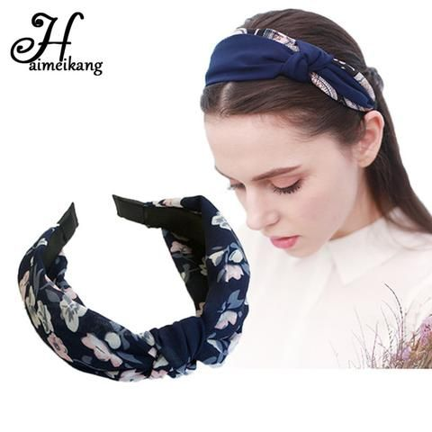 Women/'s Tie Rabbit Ear Headband Hairband Wide Knot Head Band Hair Hoop