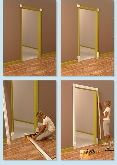 RapidFit - install new casing/base/crown molding over old molding
