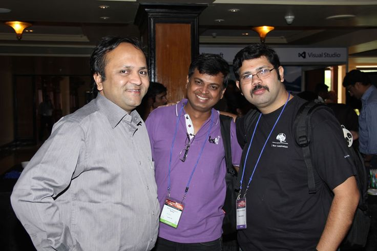Srinivasan Kulkarni, Barclays; a delegate and Pradeep Soundararajan, Moolya are all smiles