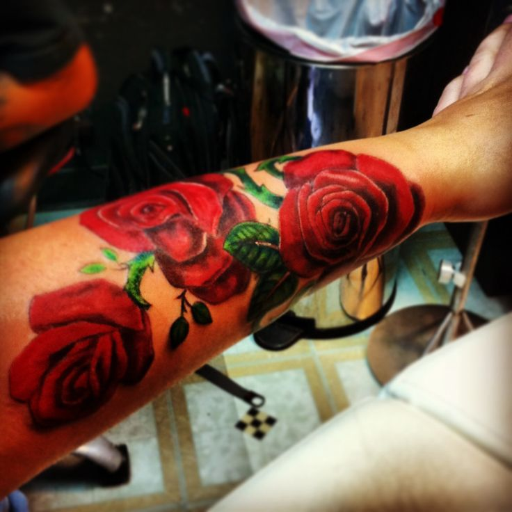 My tattoo girl rose tattoo forearm roses color for My tattoo girls