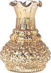 Gold Mercury Glass Vases (ruffled genie design)