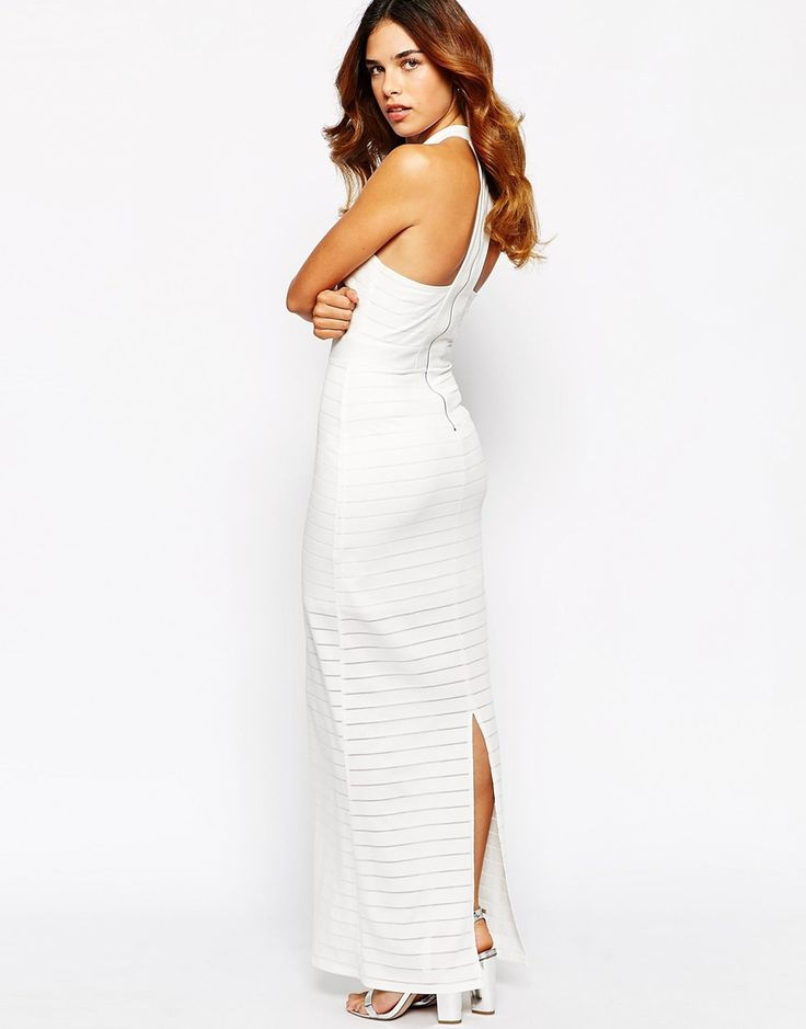 Michelle Keegan Loves Lipsy Ribbed High Neck Maxi Dress