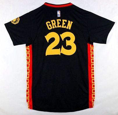 NBA Golden State Warriors Monkey Year #23 Draymond Green Chinese New Year 2016 jersey black1