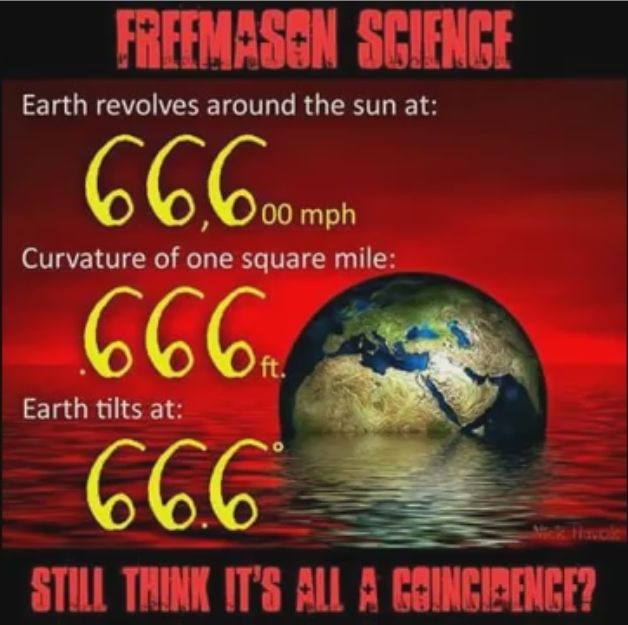 It just means Satan is your true lord and master. Hail Satan. People still really believe the earth is flat? Wtf? I love conspiracy theories, but this is too much, lol.