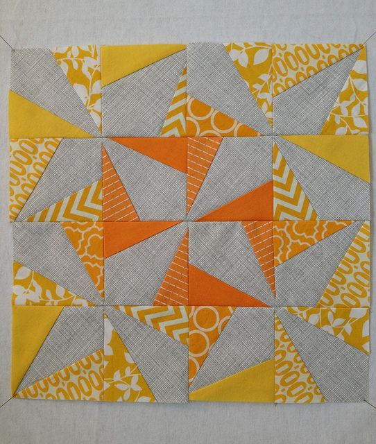 2013.03.02: FWMQG February Block by nonsensiclese, via Flickr.     Wonky Pin Wheel Quilt for the Ft Worth Modern Quilt Guild BOM.