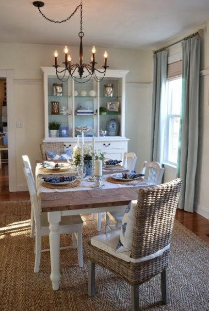 Relaxing Coastal Dining Rooms And Zones. Dining Room Esp Cabinet