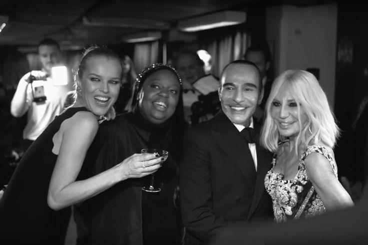 Eva Herzigova, Pat McGrath, John Galliano and Donatella Versace at the Fashion Awards 2017 London, 4th december 2017