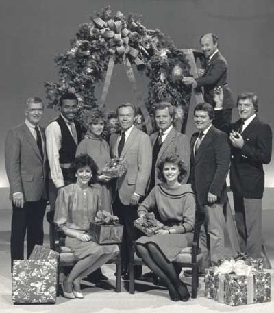 Tim Taylor, Denise D'Ascenzo, Dave Buckel, Casey Coleman, Dick Goddard, Big Chuck, Little John and others from the Channel 8 News Crew celebrate Christmas 1985