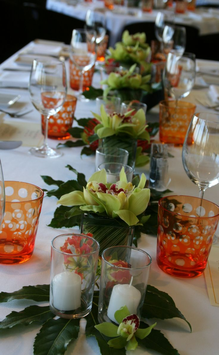 Pretty Decorating For A Dinner Party I Love The Short Glasses. They Add A  Pop Of Color. Part 64