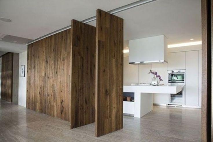 pareti divisorie in legno per interni