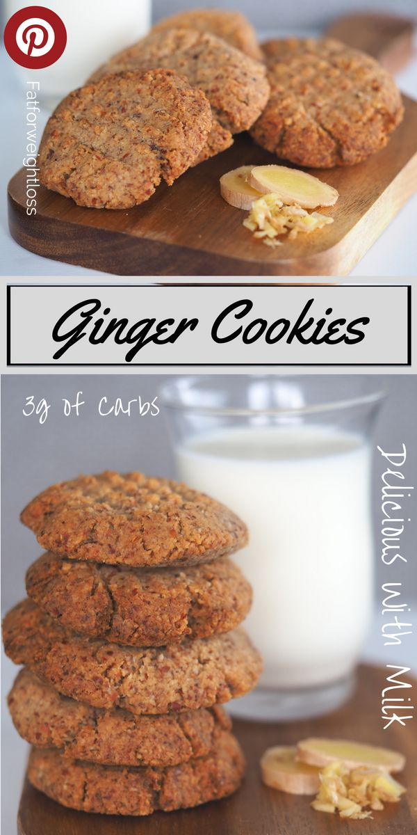 Keto Ginger and Clove Cookies with less than 3g of Carbs    Keto ginger cookies (or ginger nut biscuits) are a delicious ketogenic recipe for the occasional sweet treat. These cookies also go great with coconut milk. via @fatforweightlos