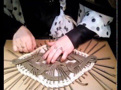 Ажуры на крышках для плетеных шкатулок. Мастер-класс, часть 4 — Яндекс.Видео
