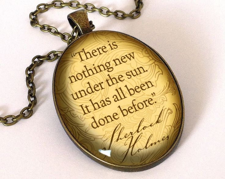 Quote Sherlock Holmes, Pendant, 0672OPB from EgginEgg by DaWanda.com